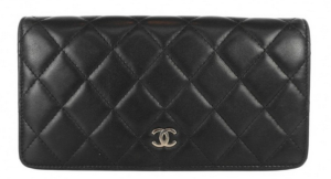 chanel quilted wallet